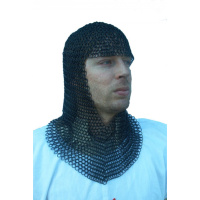 Chainmail coif, blackened-0