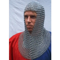 Chainmail coif, galvanised-0