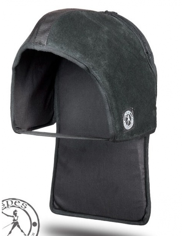"""""""Unity"""" Leather mask overlay with occipital protector PRO , SP for fencing mask -307"""