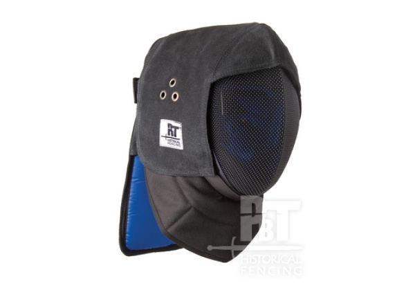 Leather overlay with occipital protector PB for fencing mask-310