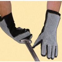 Chainmail gloves, natural finish-785