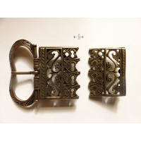 Medieval beltbuckle and -end-878
