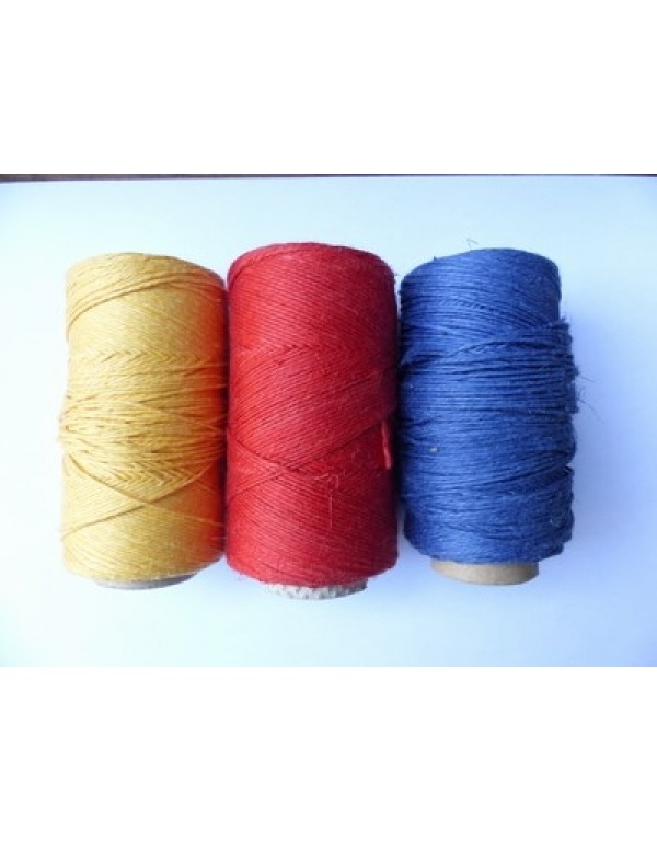 linen yarn, waxed, thick-0