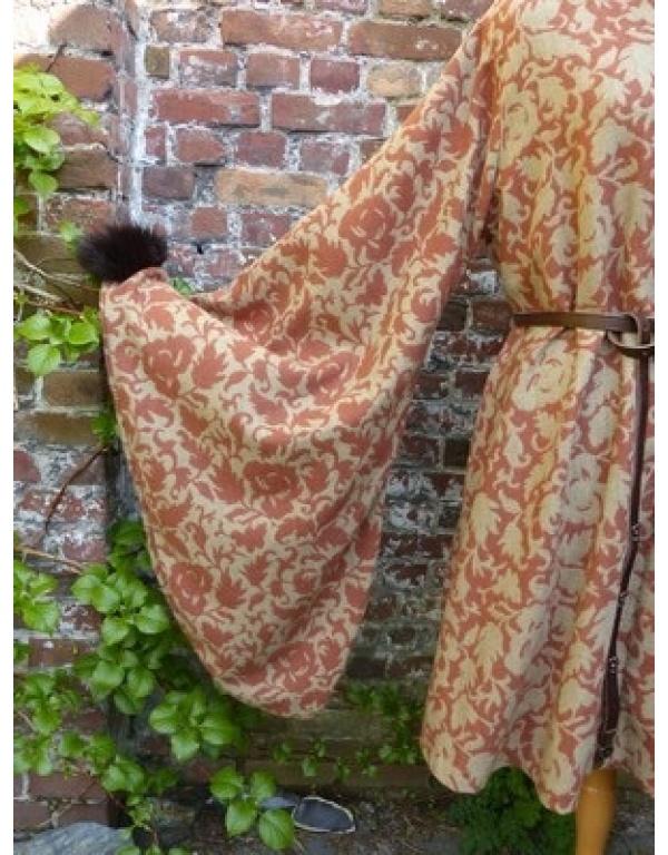 robe met bont R8-1747