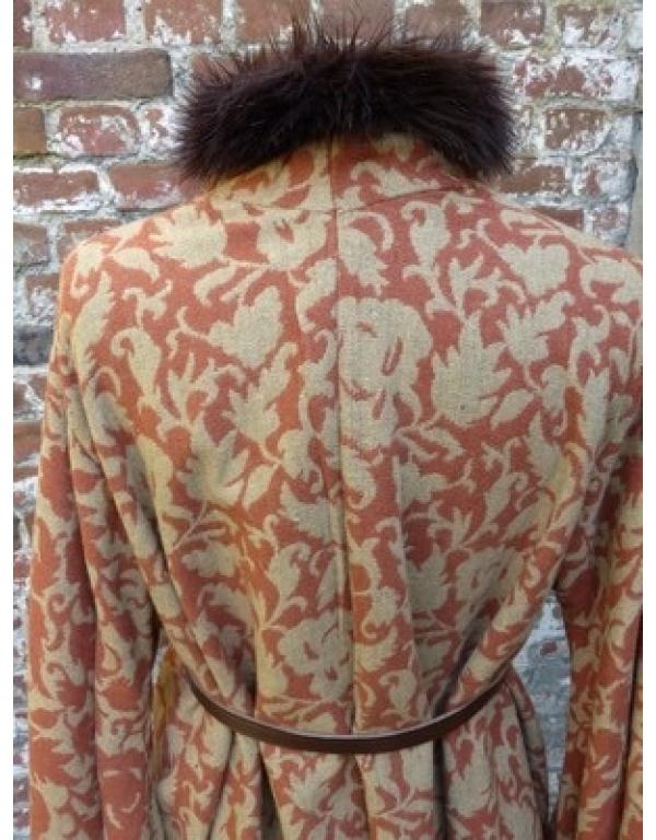 robe met bont R8-1748