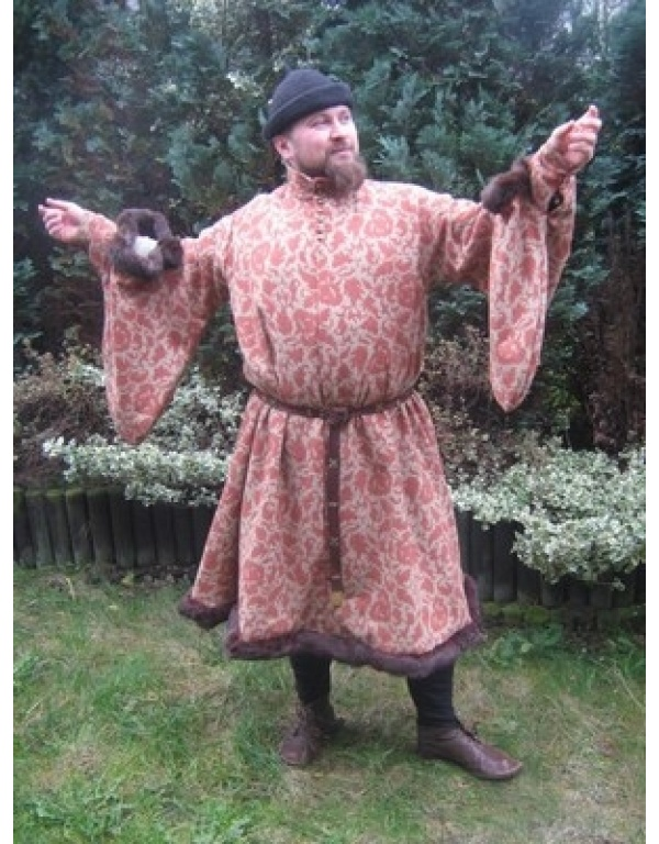 robe met bont R8-1746