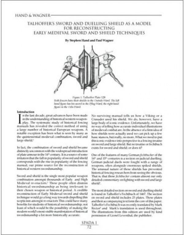 SPADA: An Anthology of Swordsmanship-1993